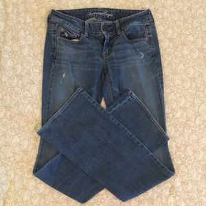 American Eagle Artist stretch jeans, size 4 x-long